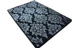 Czarny dywan z designerskim wzorem 160x230 100% wełny The Rug Republic
