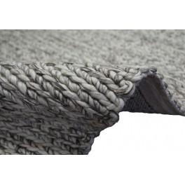 Niezwykły dywan Loop 100% wełna filcowana zaplatana ręcznie w rzędy warkoczy beż/brąz wysoka jakość Indie 150x250cm