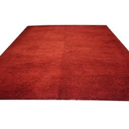 80kg welny dywan shaggy 300x400cm 4cm gruby czerwony ręcznie tkany z Indii 100% wełna