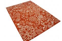 Pomarańczowy nowoczesny dywan The Rug Republic 160x230 Graffitti
