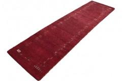 Gruby masywany dywan gabbeh 100% wełna 80x300cm czerwony chodnik