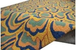 Wielokolorowy z kwiatowym wzorem Ava Handfab 100% wełna 160x230cm