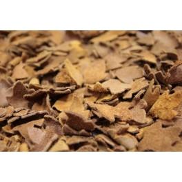 Jedyny taki dywan wełna filcowana naturalna skóra - liście i poliester CUDO UNIKAT!