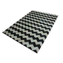 Naturalna skóra bydlęca - dywan skórzany patchwork beże i brązy 160x230