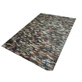 Skórzane łatki piękny dywan Patchwork wielokolorowy 160x230
