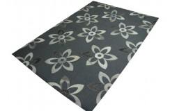 Na szarym filcu piękne skórzane kwiaty 150x220 Fantastyczny design