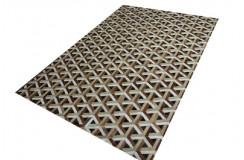 Naturalna skóra bydlęca - dywan skórzany patchwork brązowy ok 160x230cm