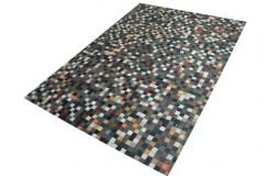 Dywan z kwadracików naturalnej skóry farbowanej PACHWORK ok 160x230cm