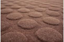 Czekoladowo brązowy dywan z wypukłym wzorem 160x230