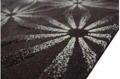 Brązowo-biały designerski dywan wełniany 160x230cm gruby nowoczesny