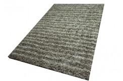 Indyjski ręcznie wykonany dywan shaggy w pasy wełna i poliester