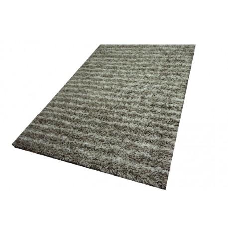 Piękny jasny dywan shaggy z wełny filcowanej ręcznie tkany z Indii 165x235cm