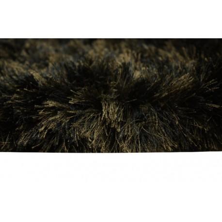 6kg/m2 masywny dywan shaggy super soft Brinker Carpets Percy black olive 200x250cm przecena -60%