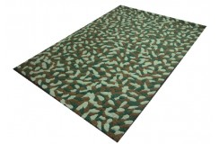 Wełniane liście na oryginalnym dywanie indyjskim Ava Handfab 160x230