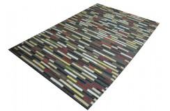 Skórzano filcowy dywan patchwork 160x230