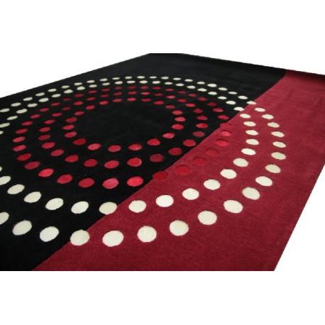 Maksymalnie designerski dywan tafting czarno czerwony 160x230