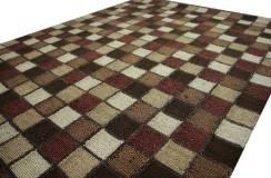 Błyszczący dywan shaggy brązowo zielony 160x230