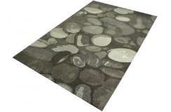 Masywny utrzymany w brązach dywan do salonu 100% wełna gruby