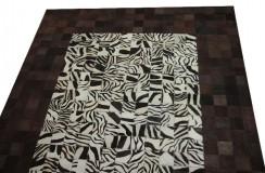 Naturalna ekskluzywna skóra patchwork Dywan z naturalnych łatek bydlęcych160x230