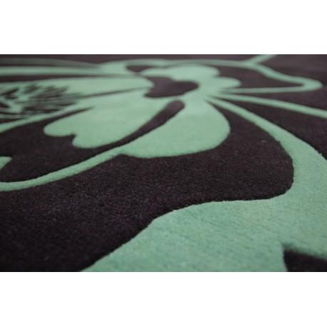 Gruby gęsto tkany dywan w kolorze bakłażanu 160x230