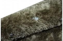 Jasno brązowy shaggy ze skórzanymi dodatkami 140x200
