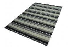 Piękny dywan wełniany w pasy z jedwabiem 160x230