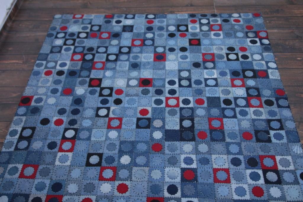 Patchworkowy dywan jeansowy 160x230