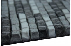 100% Wełniany naturalny dywan Brinker Carpets Stone 800 170x230cm wart 4 500zł grafit/szary wełna filcowana