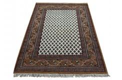 Szlachetny dywan Mir 120x180cm BEŻ/BRĄZ 100% WEŁNA ręcznie tkany orientalny