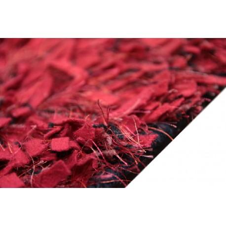 Ciemno szary dywan wełna i poliester 165x235cm