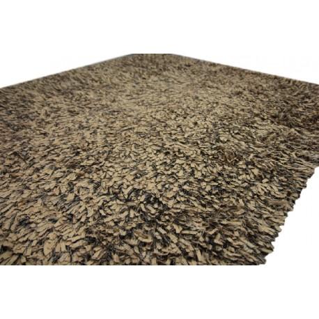 Piękny brązowy nowoczesny dywan shaggy 165x235cm
