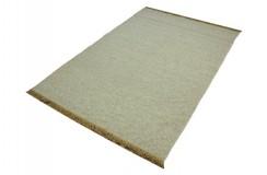 Gładki beżowy dywan z nutą szarego dwustronny ręcznie tkany - kilim 140x200 HIT