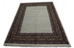 Beżowy radycyjny ręcznie tkany dywan indyjski Mir Kanchipur piękny 170x240cm 100% wełna