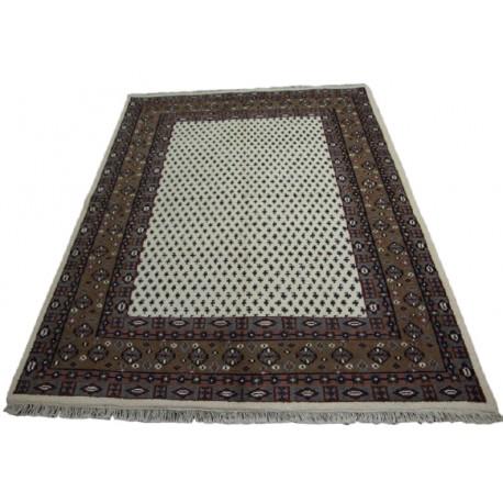 Beżowy radycyjny ręcznie tkany dywan indyjski Mir piękny 170x240cm 100% wełna