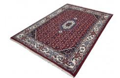 Czerwony klasyczny dywan Bidjar z Indii 165x230cm wzór HERATI z medalionem