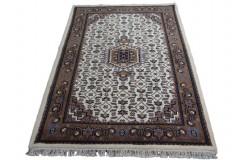 Śliczny beżowy dywan Indo Bidjar ok 120x180cm 100% wełna ekskluzywny