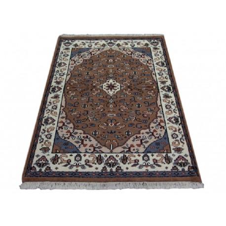Cenny gęsto ręcznie tkany dywan Tebriz 100% wełna 120x270cm Indie piękny perski wzór brązowy