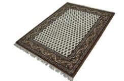 Beżowy tradycyjny ręcznie tkany dywan indyjski Mir Kanchipur piękny ok 120x180cm 100% wełna