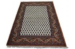Beżowy tradycyjny ręcznie tkany dywan indyjski Mir piękny ok 120x180cm 100% wełna