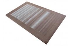 Brązowo-beżowy piękny wełniany dywan gabbeh z Indii ciepły 120x180cm