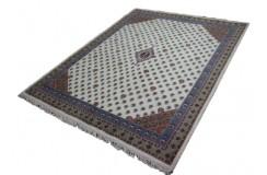 Piękny beżowo-brązowy dywan indyjski MIR Kanchipur 100% wełniany wart 6000zł - promocja