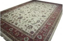 GIGANTYCZNY luksusowy dywan perski Kashan z Iranu 100% wełna 370x540cm beżowy ekskluzywny