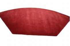 Czerwony dywan o nietypowym kształcie 175x340cm 100% wełna LUKSUS z Nepalu MAKALU