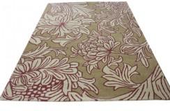 Stonowany kwiatowy designerski dywan 100% wełniany Morris & Co Chrysanthemum 27005 Beige 170x240cm wysoka jakość promocja