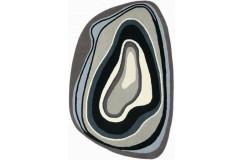 Dywan Brink & Campman Xian 77304 slice Grey 100% akryl 170x240cm nowoczesny design wycinany kształt -50%