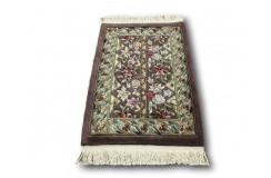 Rzeźbiony ręcznie CHIŃSKI jedyny 100% wełniany dywan AUBUSSON fioletowy 60x90cm