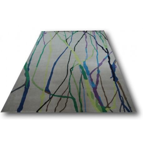 Dywan Brink & Campman Xian 78108 100% akryl 170x240cm nowoczesny design -50% biały w kolorowe fale