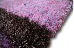 Błąyszczący super miękki dywan shaggy Ava Handfab 160x230cm brąz/fiolet /niebieski super soft cudo