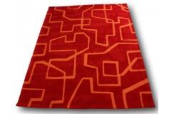 Dywan Brink & Campman 100% akryl 170x240cm nowoczesny design dwupoziomowy wzór czerwony