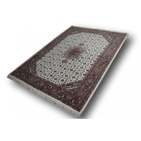 Beżowy piękny dywan bidjar z motywem heratu 100% wełna ręcznie tkany 170x230cm